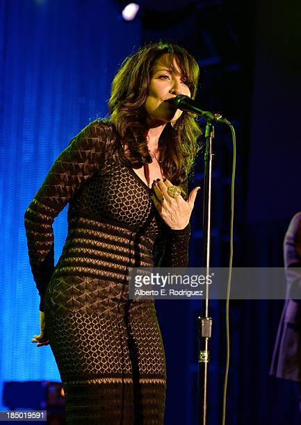 Actress/musician Katey Sagal performs onstage during The Paley Center for Media's 2013 benefit gala honoring FX Networks with the Paley Prize for...