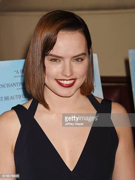 Actress/Narrator/Executive producer Daisy Ridley arrives at the Premiere Of Sony Pictures Classics' 'The Eagle Huntress' at Pacific Theaters at the...