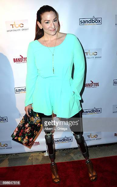 Actress/paralympian Katy Sullivan arrives for the Grand Opening Of Sandbox By TBC Hospitality Group held at Sandbox on September 1 2016 in Los...