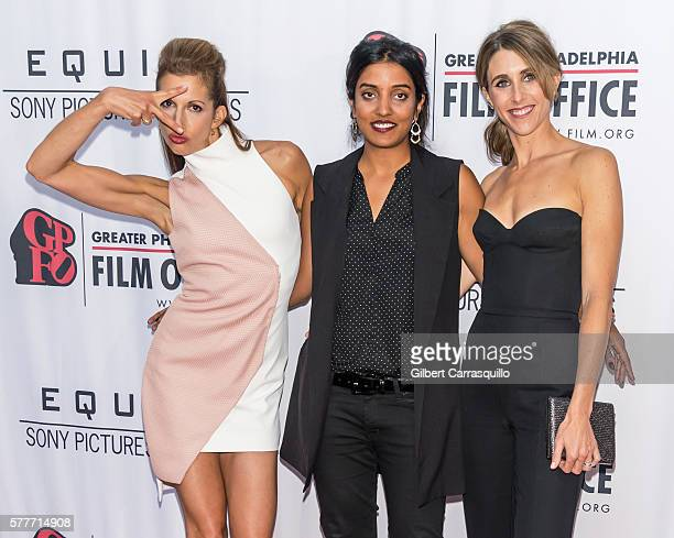 Actress/producer Alysia Reiner director Meera Menon and actress/producer Sarah Megan Thomas attend 'Equity' Philadelphia Premiere at Kimmel Center...