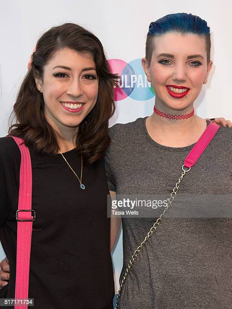 Actress/producer Alyssa Onofreo and comedian Nikki Black attend SoulPancake's Puppypalooza Party at SoulPancakes Headquarters on March 23 2016 in Los...