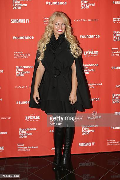 Actress/producer AngelineRose Troy attends the Sophie And The Rising Sun Premiere during the 2016 Sundance Film Festival at Rose Wagner Performing...