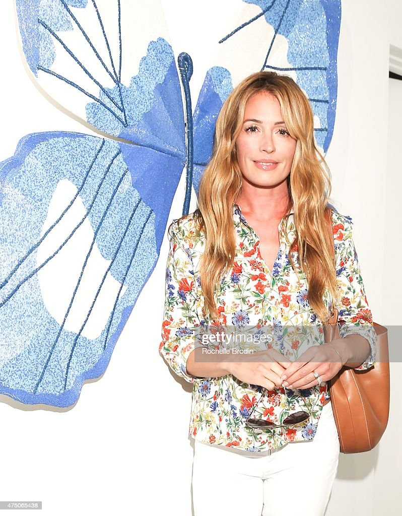 Actress/producer Cat Deeley attends the 'Blue Nudes' exhibition at De Re Gallery on May 28, 2015 in West Hollywood, California.