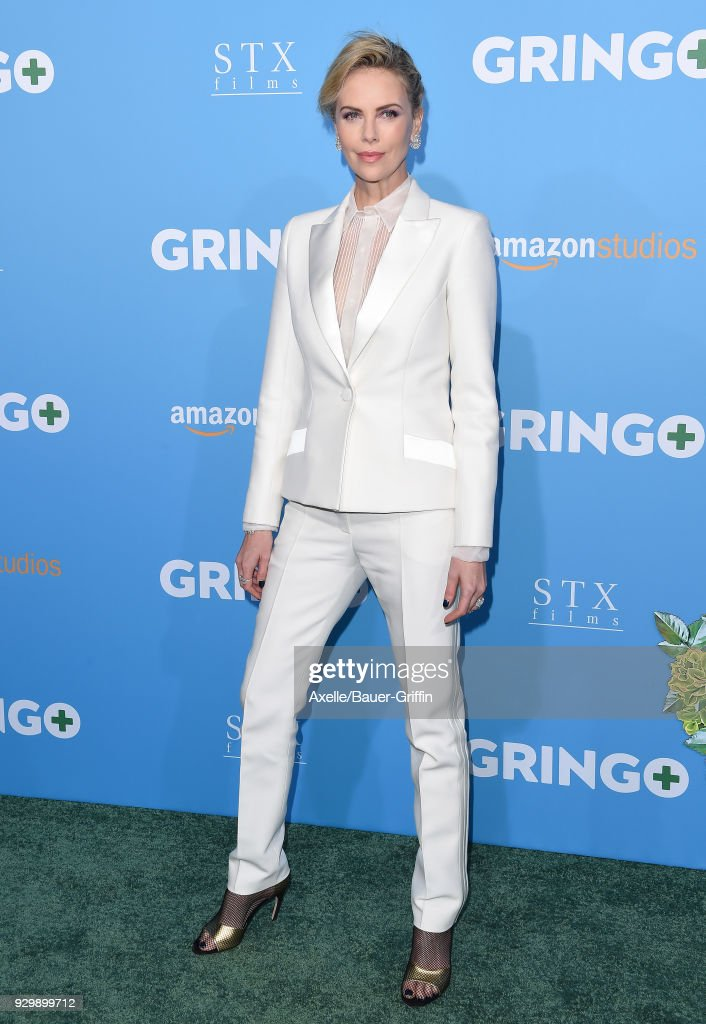 Actress/producer Charlize Theron attends the World Premiere of 'Gringo' at Regal LA Live Stadium 14 on March 6, 2018 in Los Angeles, California.