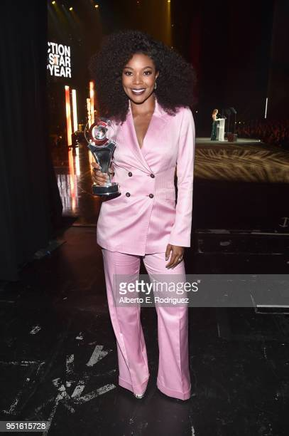 Actress/producer Gabrielle Union recipient of the Breakthrough Producer of the Year award attends the CinemaCon Big Screen Achievement Awards brought...