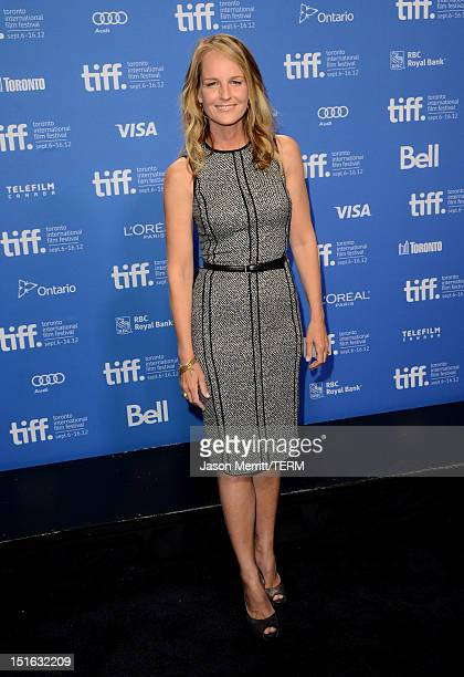 Actress/Producer Helen Hunt attends The Sessions Photo Call during the 2012 Toronto International Film Festival at TIFF Bell Lightbox on September 9...
