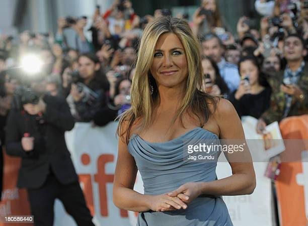 """Actress/producer Jennifer Aniston arrives at the """"Life Of Crime"""" Premiere during the 2013 Toronto International Film Festival at Roy Thomson Hall on..."""