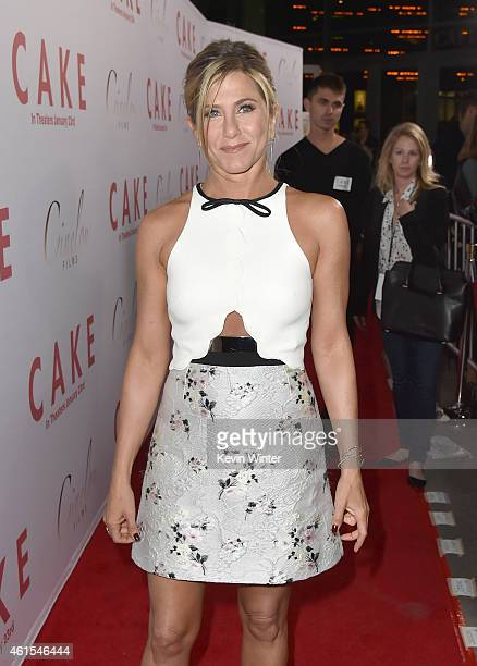 Actress/Producer Jennifer Aniston attends the premiere of Cinelou Films' Cake at ArcLight Cinemas on January 14 2015 in Hollywood California