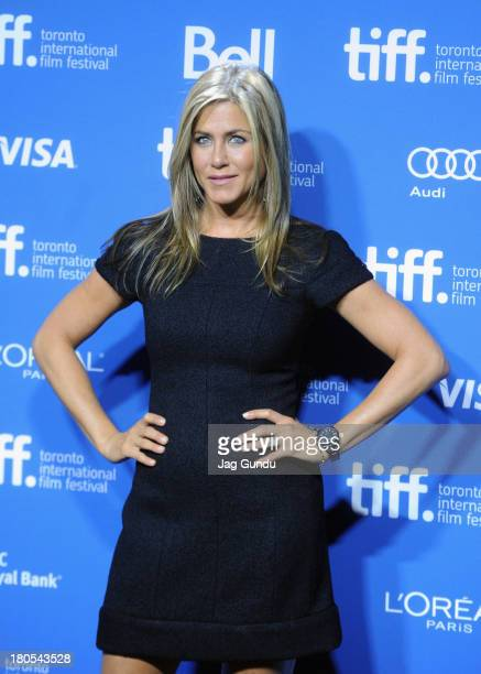 Actress/Producer Jennifer Aniston poses onstage at the 'Life Of Crime' Press Conference during the 2013 Toronto International Film Festival at TIFF...