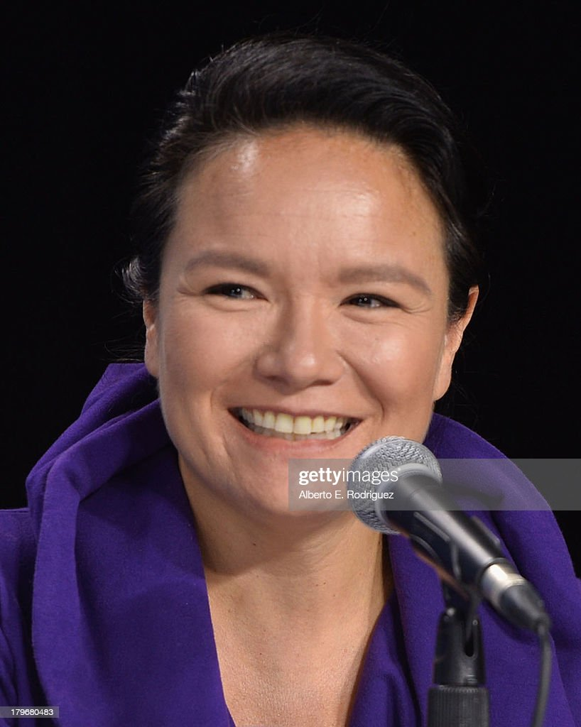 Actress/Producer Jennifer Podemski of 'Empire of Dirt' speaks onstage at First Peoples Cinema Press Conference during the 2013 Toronto International Film Festival at TIFF Bell Lightbox on September 6, 2013 in Toronto, Canada.