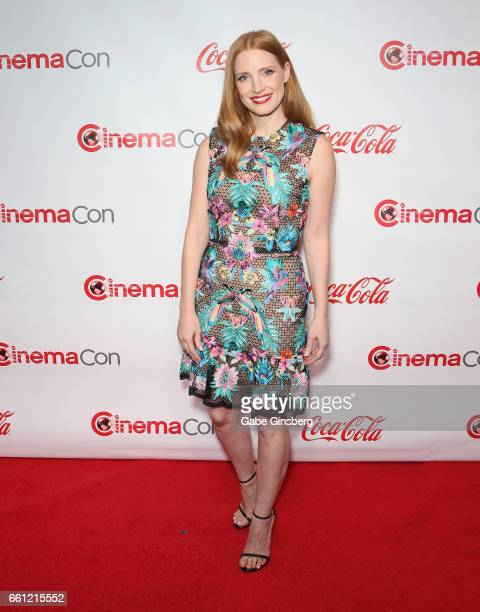Actress/producer Jessica Chastain, recipient of the Female Star of the Year Award, attends the CinemaCon Big Screen Achievement Awards at Omnia...
