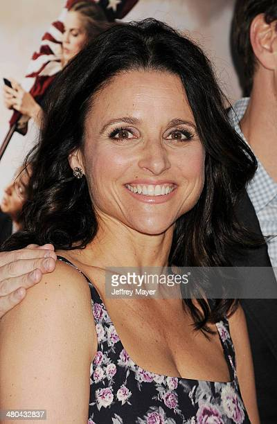 Actress/producer Julia LouisDreyfus attends the premiere of HBO's 'Veep' 3rd season held at Paramount Studios on March 24 2014 in Hollywood California