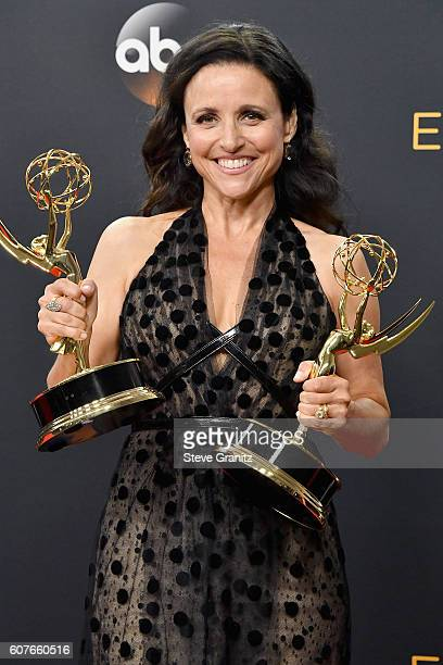 Actress/producer Julia LouisDreyfus winner of the awards for Outstanding Lead Actress in a Comedy Series and Outstanding Comedy Series for 'Veep'...