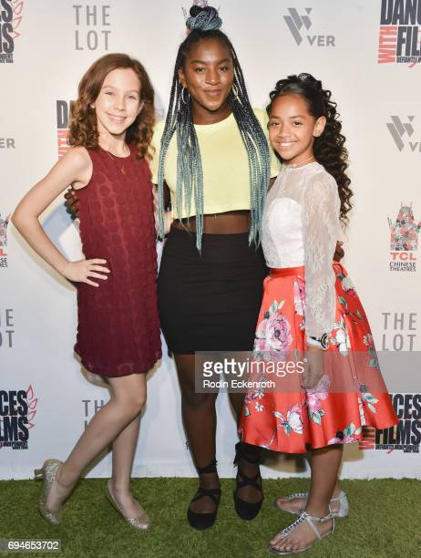 Actress/producer Kacey Fifield actress Jae'Lyn Ayauna Godoy and dancer Nancy Fifita attend the 20th Annual Dances with Films premiere of Hear Me Out...