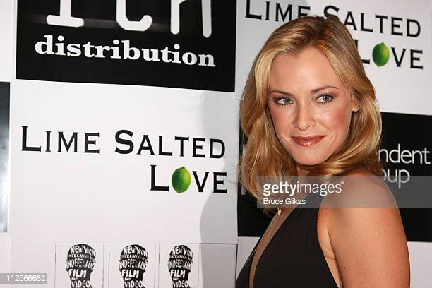 Actress/Producer Kristanna Loken poses as she arrives for The Premiere of her new film Lime Salted Love at The New York International Independent...