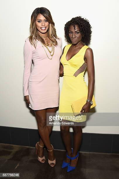Actress/producer Laverne Cox and founder of TransTech Social Enterprises Angelica Ross attend the premiere of FREE CeCe during the 2016 Los Angeles...