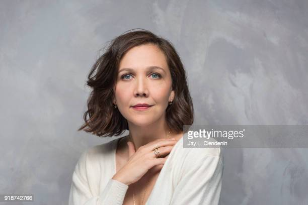 Actress/producer Maggie Gyllenhaal from the film 'The Kindergarten Teacher' is photographed for Los Angeles Times on January 21 2018 in the LA Times...
