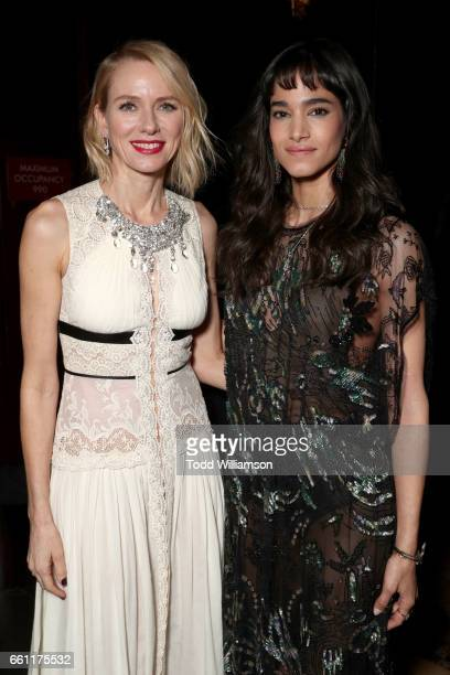Actress/producer Naomi Watts and actress/dancer Sofia Boutella at the CinemaCon Big Screen Achievement Awards brought to you by the CocaCola Company...