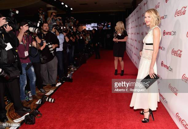 Actress/producer Naomi Watts recipient of the Distinguished Decade of Achievement in Film Award attends the CinemaCon Big Screen Achievement Awards...