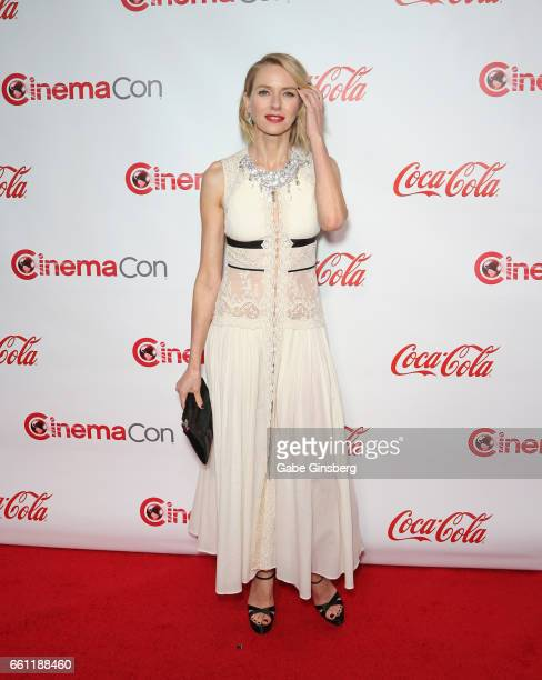 Actress/producer Naomi Watts, recipient of the Distinguished Decade of Achievement in Film Award, attends the CinemaCon Big Screen Achievement Awards...