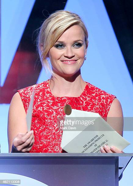 Actress/producer Reese Witherspoon speaks onstage at the 26th Annual Producers Guild Of America Awards at the Hyatt Regency Century Plaza on January...