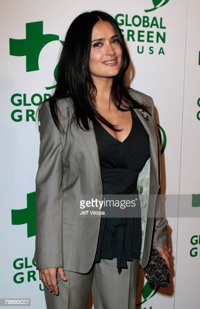 Actress/producer Salma Hayek attends Global Green USA's 5th Annual Pre Oscar Party at Avalon Hollywood on February 20, 2008 in Los Angeles,...