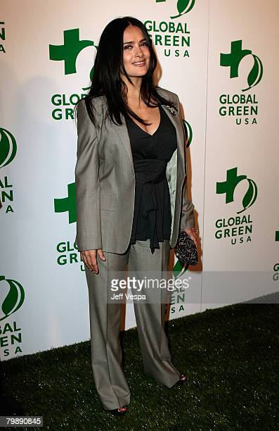 Actress/producer Salma Hayek attends Global Green USA's 5th Annual Pre Oscar Party at Avalon Hollywood on February 20 2008 in Los Angeles California