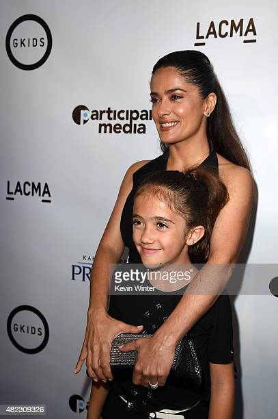 """Actress/producer Salma Hayek Pinault and daughter Valentina Paloma Pinault attend the screening of GKIDS' """"Kahlil Gibran's the Prophet"""" at Bing..."""
