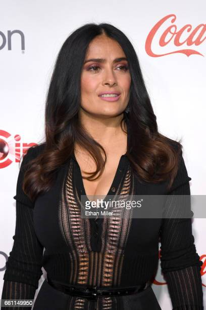 Actress/producer Salma Hayek recipient of the CinemaCon Vanguard Award attends the CinemaCon Big Screen Achievement Awards brought to you by the...