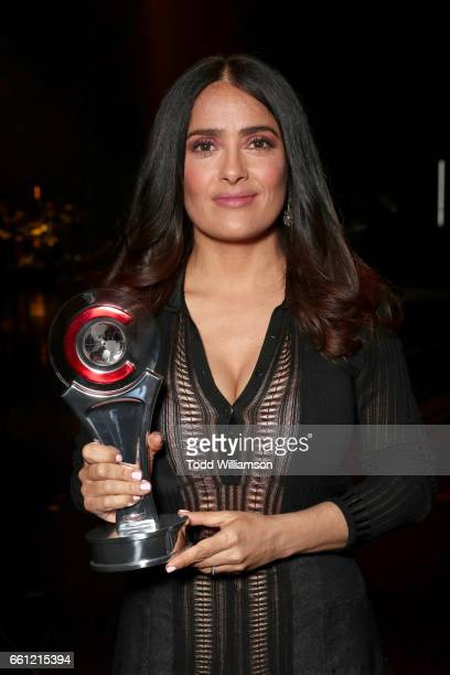 Actress/producer Salma Hayek recipient of the CinemaCon Vanguard Award at the CinemaCon Big Screen Achievement Awards brought to you by the CocaCola...