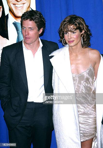 Actress/producer Sandra Bullock and Hugh Grant during Two Weeks Notice Premiere New York at The Ziegfeld in New York City New York United States
