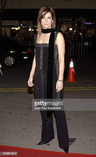 Actress/producer Sandra Bullock during 'Two Weeks Notice' Premiere Los Angeles Arrivals at Mann's Bruin Theater in Westwood California United States