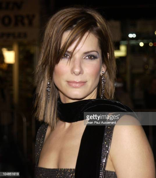 "Actress/producer Sandra Bullock during ""Two Weeks Notice"" Premiere - Los Angeles - Arrivals at Mann's Bruin Theater in Westwood, California, United..."