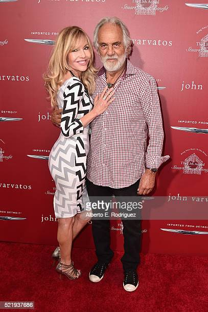 Actress/producer Shelby Chong and actor/comedian Tommy Chong attend the John Varvatos 13th Annual Stuart House benefit presented by Chrysler with...