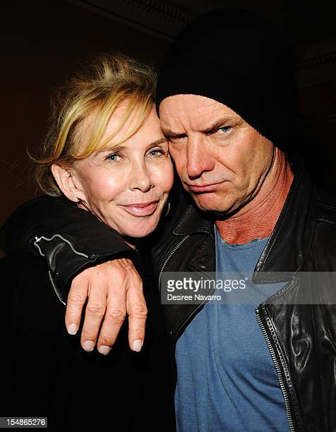 Actress/producer Trudie Styler and her husband singer Sting attend the Abrons Arts Center on October 27 2012 in New York City