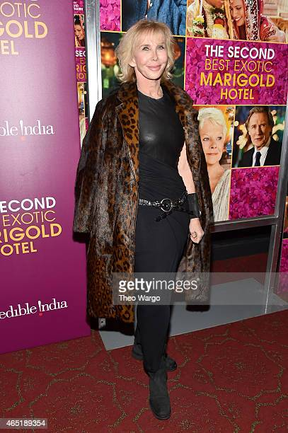 Actress/Producer Trudie Styler attends 'The Second Best Exotic Marigold Hotel' New York Premiere at the Ziegfeld Theater on March 3 2015 in New York...