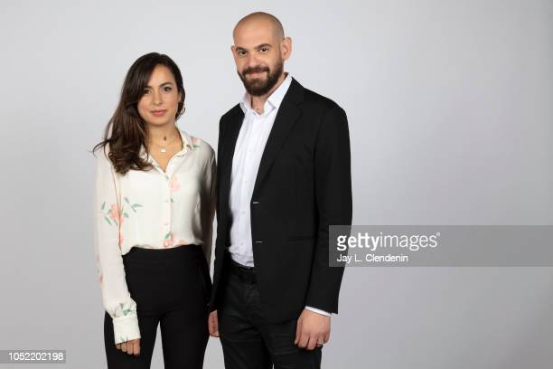 Actress/producer Yasmine Qaddumi and writer/director Bassam Jarbawi from 'Screwdriver' are photographed for Los Angeles Times on September 11 2018 in...
