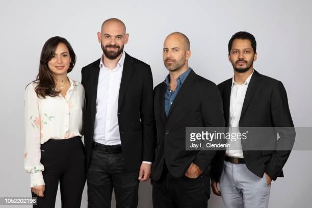 Actress/producer Yasmine Qaddumi writer/director Bassam Jarbawi cinematographer David McFarland and producer Shrihari Sathe from 'Screwdriver' are...