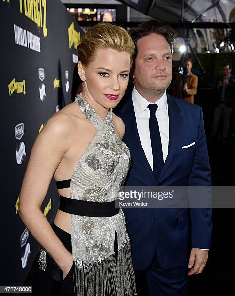 Actress/producer/director Elizabeth Banks and her husband producer Max Handelman arrive at the premiere of Universal Pictures' Pitch Perfect 2 at the...