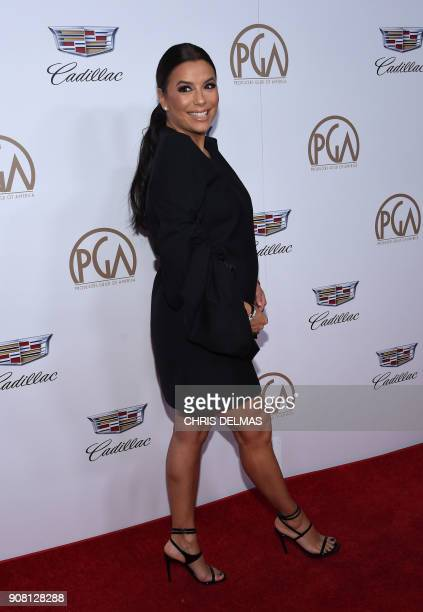 Actress/producer/director Eva Longoria arrives at the 2018 Annual Producers Guild Awards Presented By Cadillac on January 20 in Beverly Hills...