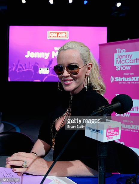 Actress/radio personality Jenny McCarthy hosts a broadcast of her SiriusXM show 'The Jenny McCarthy Show at CES 2017 at the Las Vegas Convention...