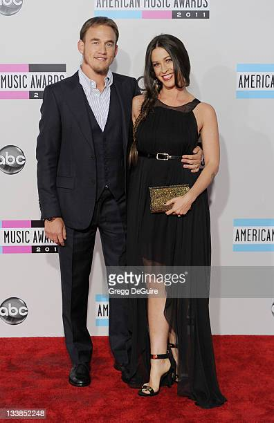 Actress/recording artist Alanis Morissette and husband Mario Treadway arrive at the 2011 American Music Awards at Nokia Theatre LA Live on November...