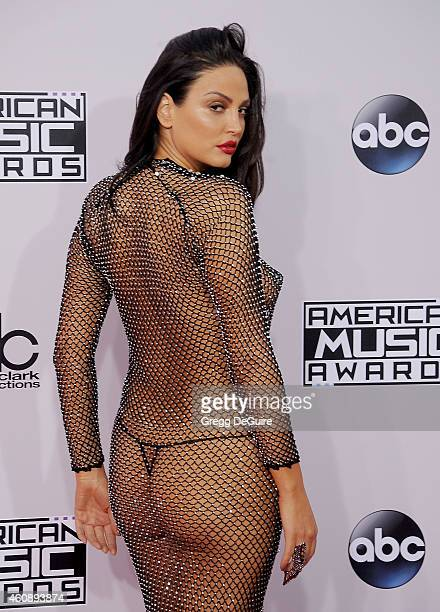 Actress/recording artist Bleona arrives at the 2014 American Music Awards at Nokia Theatre LA Live on November 23 2014 in Los Angeles California