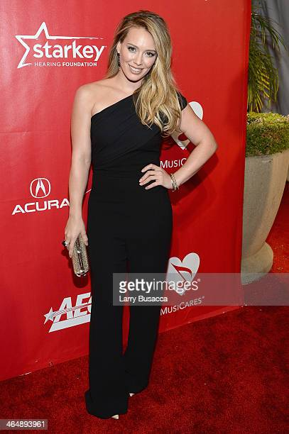 Actress/recording artist Hilary Duff attends 2014 MusiCares Person Of The Year Honoring Carole King at Los Angeles Convention Center on January 24...