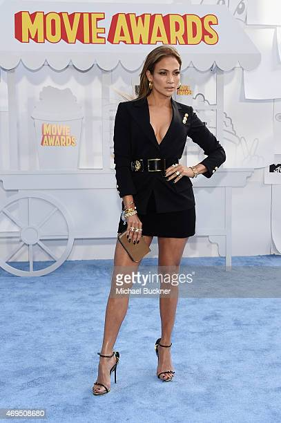 Actress/recording artist Jennifer Lopez attends The 2015 MTV Movie Awards at Nokia Theatre LA Live on April 12 2015 in Los Angeles California