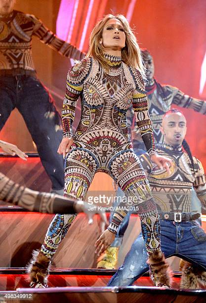 Actress/Recording artist Jennifer Lopez performs onstage during the 2015 American Music Awards at Microsoft Theater on November 22 2015 in Los...
