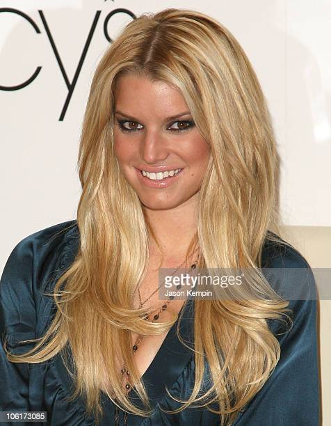 Actress/Recording Artist Jessica Simpson promotes her clothing line at Macy's Herald Square on November 3 2007 in New York City