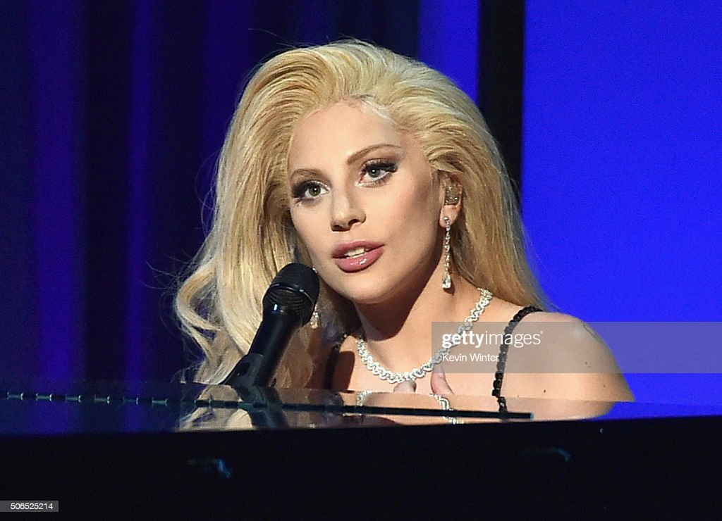 Actress/recording artist Lady Gaga performs onstage at the 27th Annual Producers Guild Of America Awards at the Hyatt Regency Century Plaza on January 23, 2016 in Century City, California.