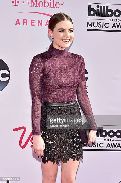 Actress/recording artist Lucy Hale attends the 2016 Billboard Music Awards at TMobile Arena on May 22 2016 in Las Vegas Nevada