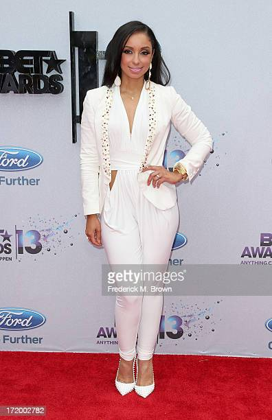 Actress/recording artist Mya attends the 2013 BET Awards at Nokia Theatre LA Live on June 30 2013 in Los Angeles California